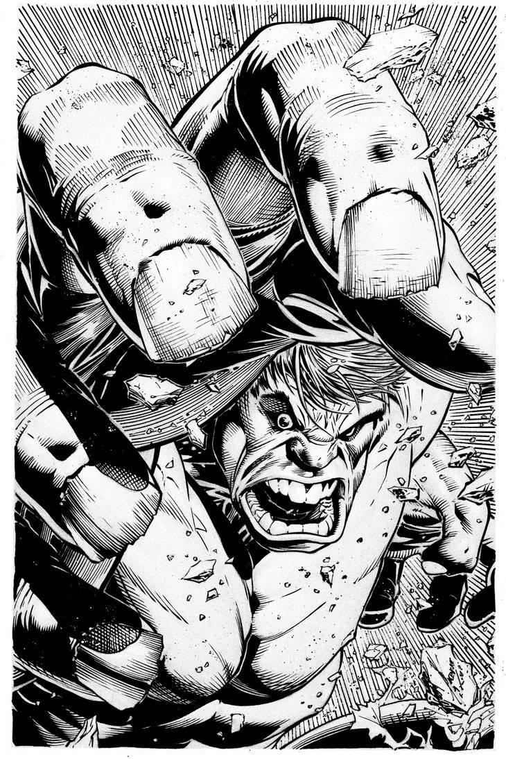 Dale Keown Hulk Fan inks by LuisPuig