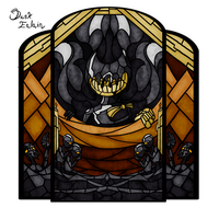 Stained Glass: The Ink Demon by Dusk-Ealain