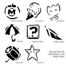 Video Game Stencils by thetani