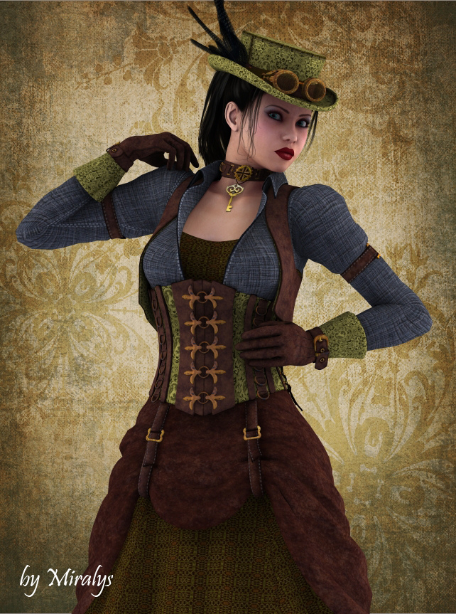 Lyssiana in steampunk style by ladymiralys on deviantart What is style