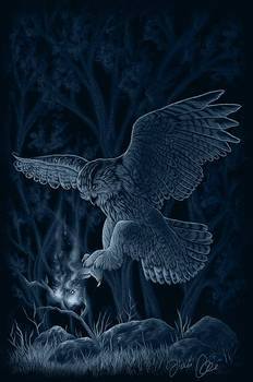 Owl catching fire