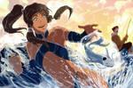 Korra and Bolin : Ice Fishing