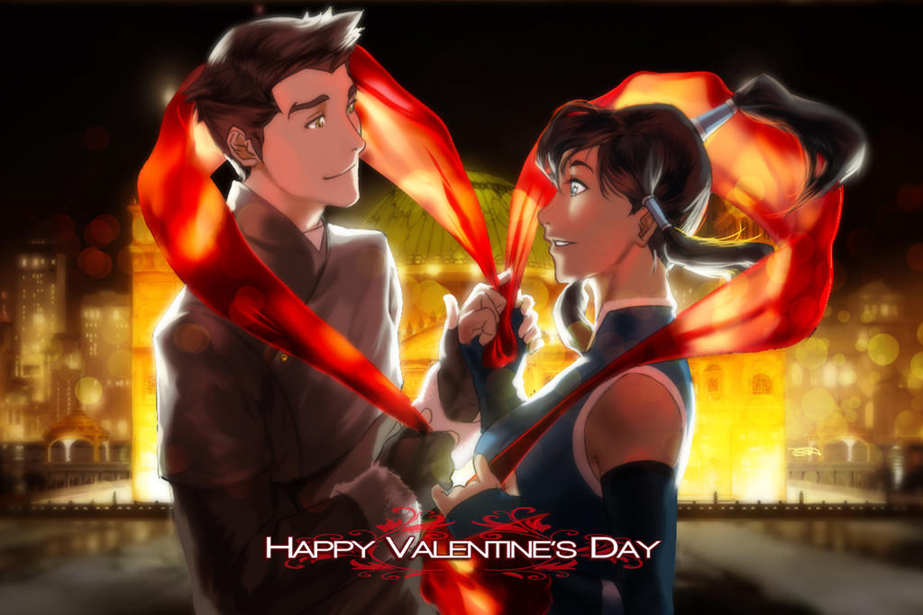 Korra X Mako Valentine's Day by Artipelago