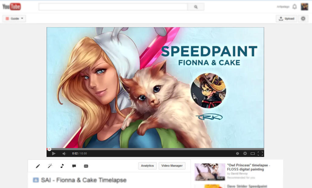 YOUTUBE! SPEED PAINTINGS! by Artipelago