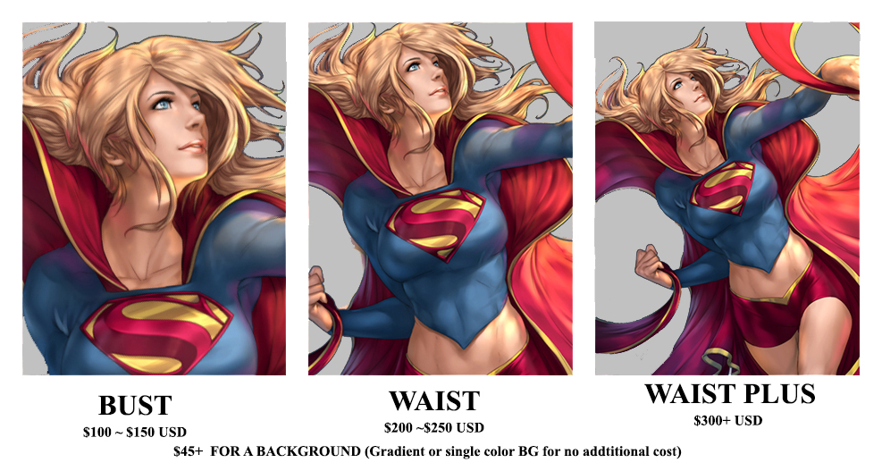 Color Pin-up Pricing List by Artipelago