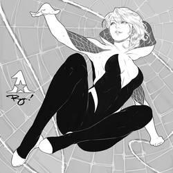 Spider-Gwen! :Inktober '18 #4