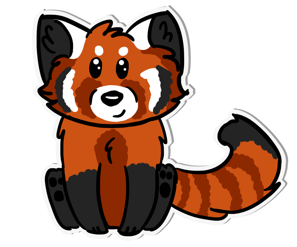 Chibi red panda - photo#7