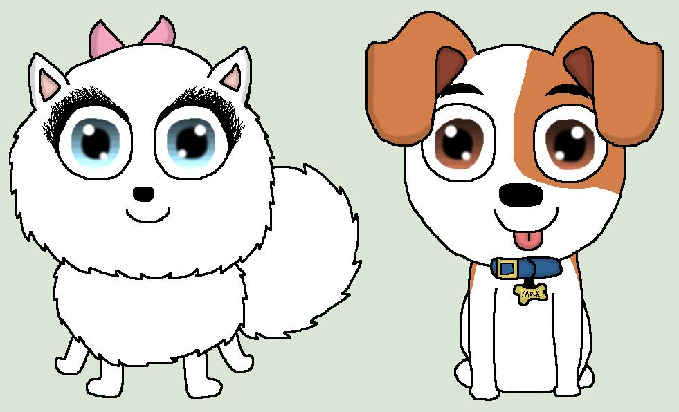the secret life of pets   max and gidget by prankstarz101
