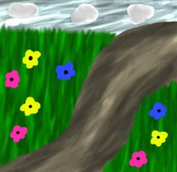 Spring Field Background