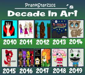 PrankStarz101's Decade In Art Meme