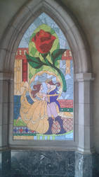 Beauty And The Beast Glass Picture