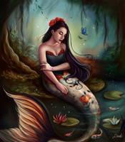 Koi Mermaid by Dim-Draws