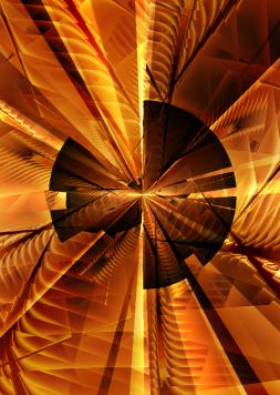 Abstract Disk Fractal by MelanieMertens