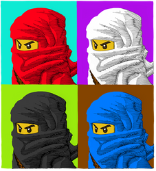 Ninjago Warhol by HundredHands