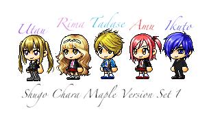 Shugo Chara Maplestory Version Set 1 by kaesamii