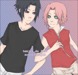art trade - sasusaku by tenjii