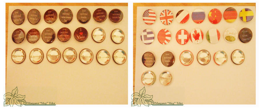 For Sale-  1 1/4 Size Buttons by lilly-peacecraft