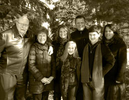 Sepia Tone Family Portrait Example