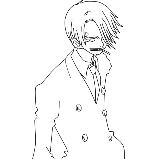 One Piece Lineart : Sanji from one piece lineart by chibizetsuakatsuki on