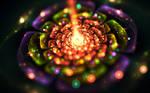 Lights inside a flower