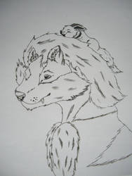 Arcanine and Eevee