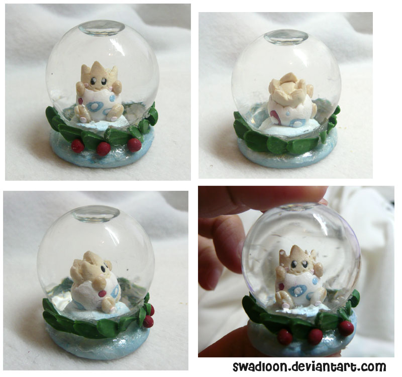 Mini Snow globe - Togepi by Swadloon