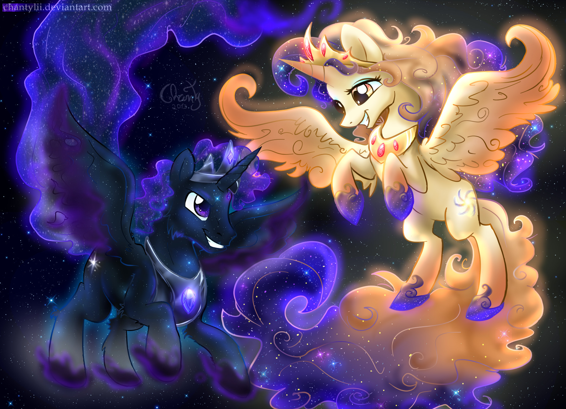 Celestia And Lunas Parents By MyFantasyZone On DeviantArt