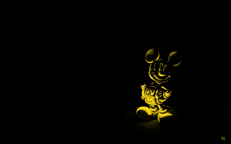 Invisible phantom mickey aux coucouniette d 39 or for Photo ecran noir
