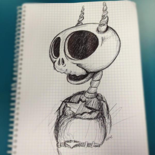 Batman Skull Head by PhantomxLord