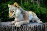 40in Custom Timber Wolf Plush by WhiteLightning-Wolf