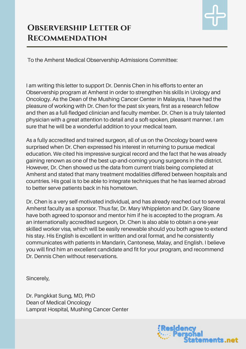 Observership letter of recommendation sample by residencyadmissionuk observership letter of recommendation sample by residencyadmissionuk observership letter of recommendation sample by residencyadmissionuk spiritdancerdesigns Gallery