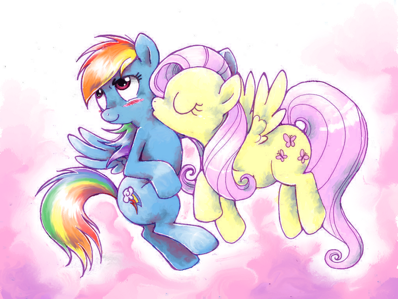 The gallery for --> Rainbow Dash And Fluttershy Human Kiss