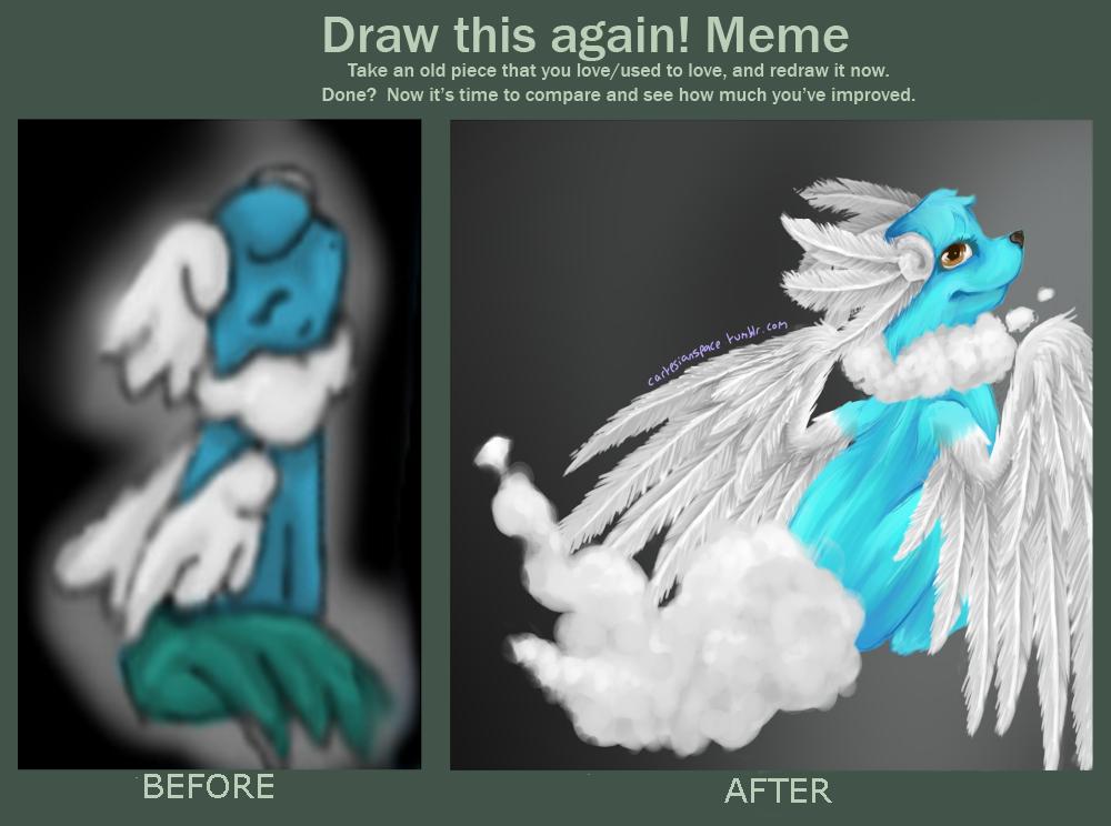 Draw This Again Meme- Breezeon by Cartesia-Dawn