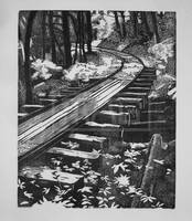 Old Logging Railroad by MAGPrintmaker