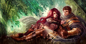 Art Trade ShiNaa: Katarina and Garen