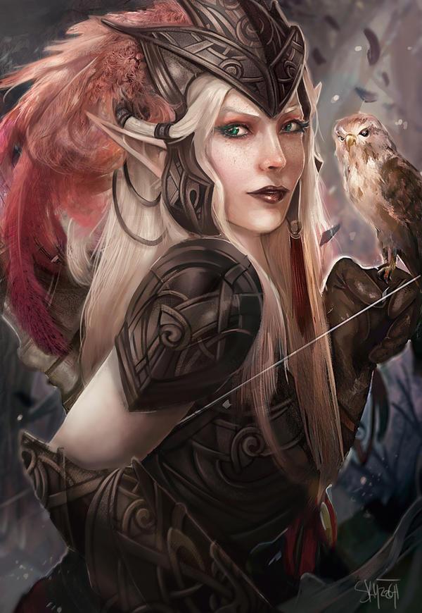 Galeria de Arte: Ficção & Fantasia 1 - Página 6 Commission__elf_huntress_by_skyzocat-d6m3pk0