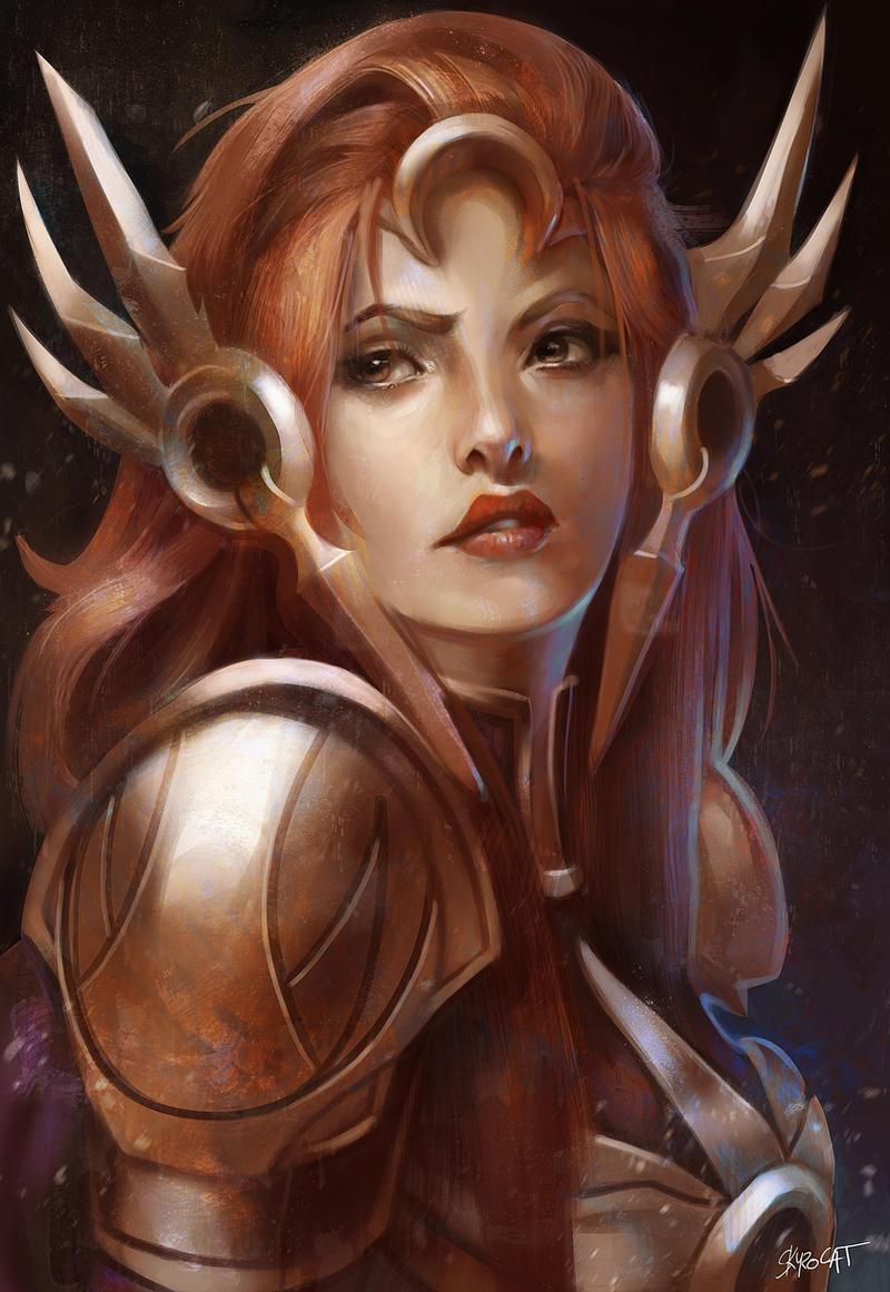 Leona, the radiant dawn by Skyzocat
