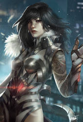 Yua, the dragon lady - commission