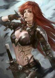Katarina the Sinister Blade by Skyzocat