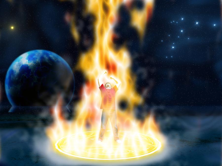 Fire elementalist by fearmaker782 on DeviantArt