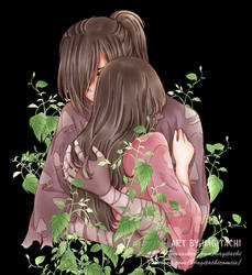 [Fanart] [HyakkimaruxMio] Hug by Hagitachi