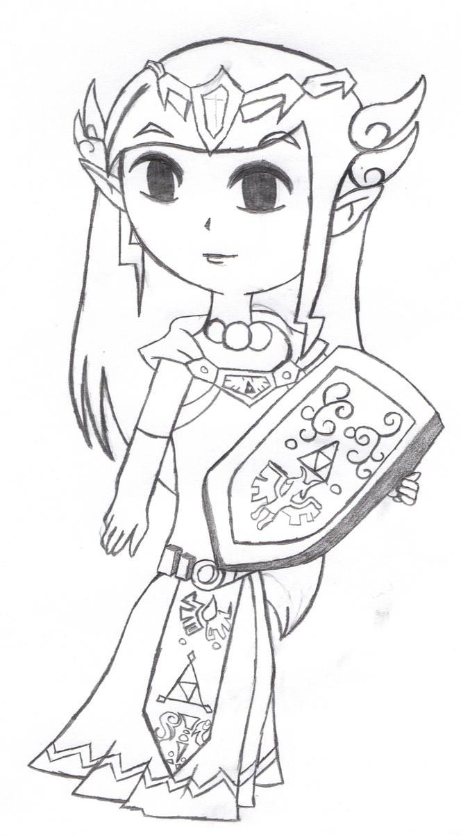 princess zelda coloring pages - princess zelda rose coloring pages coloring pages