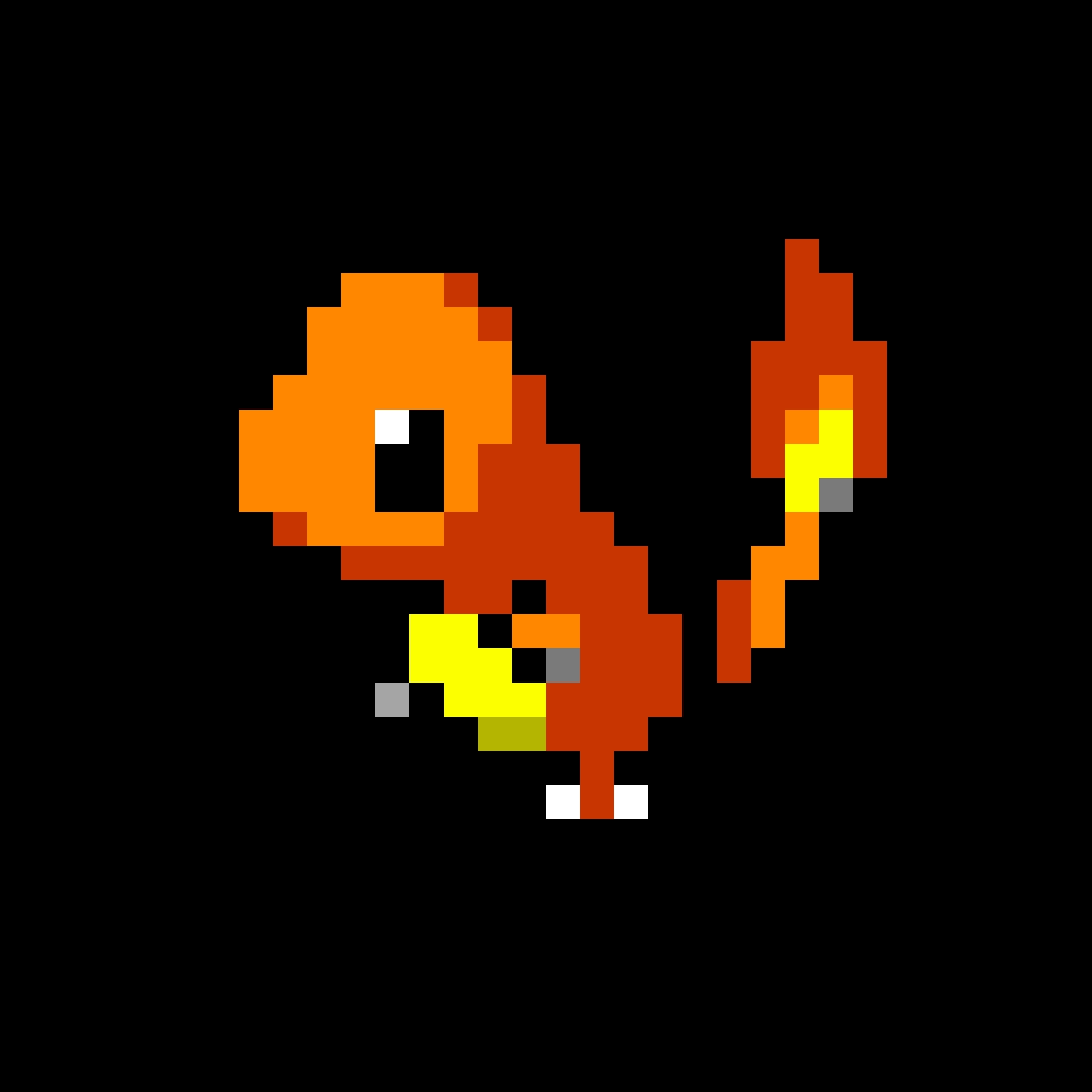 Pixel Charmander By Goldenking277 On Deviantart