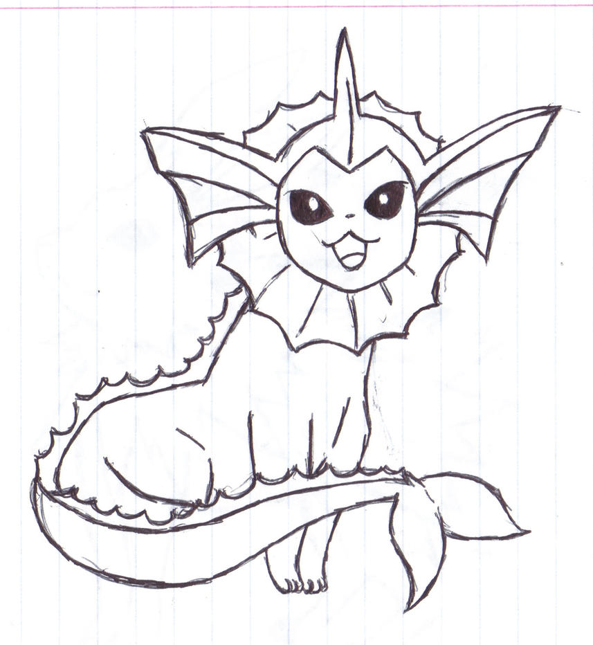 Eeveelution vaporeon by alfred martini pines on deviantart for Vaporeon coloring pages