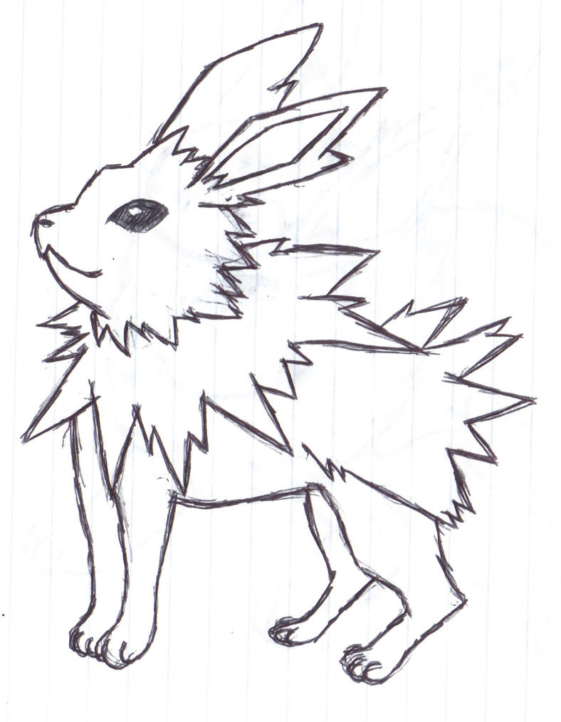 jolteon coloring pages - eeveelution jolteon by alfred martini pines on deviantart