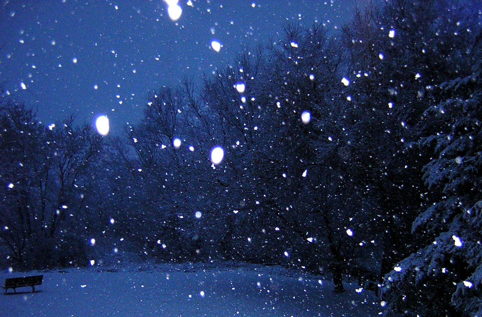 snowy night sky wallpaper wwwpixsharkcom images