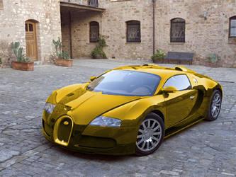 gold veyron by PSH-CS5