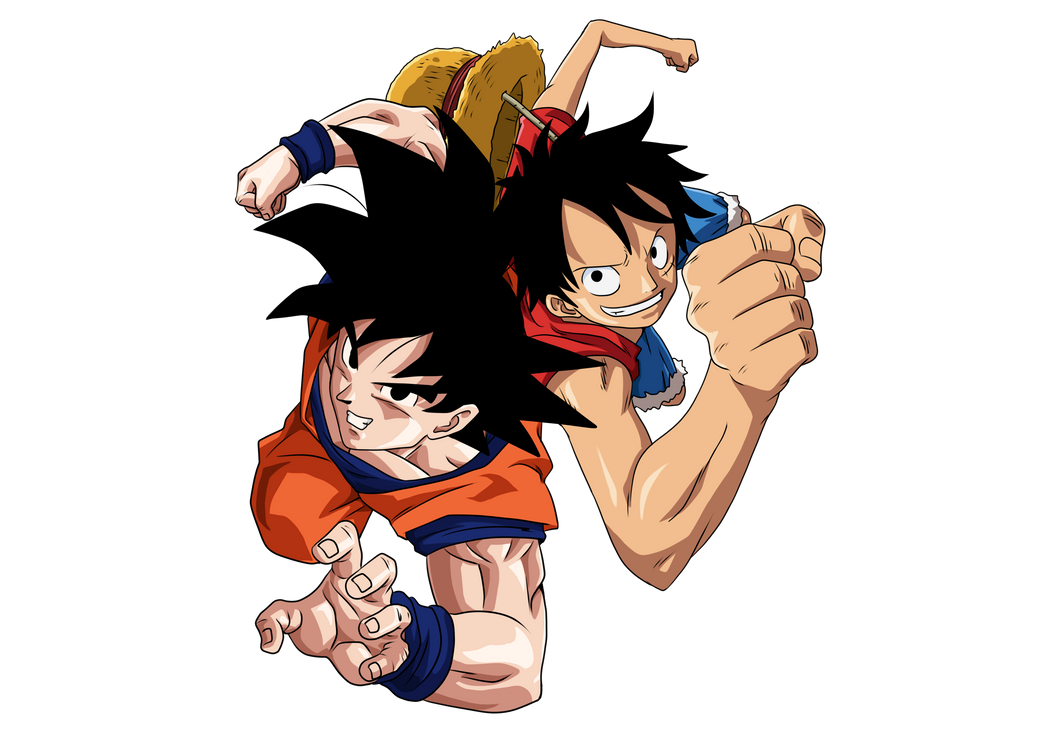Goku and Luffy PNG by KekoArt97 on DeviantArt