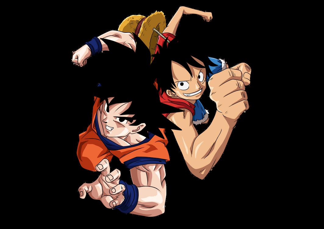 Goku and Luffy PNG by KekoArt97 on DeviantArt