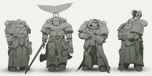 Dark Angels re-design. by TheMaestroNoob
